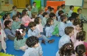 Escolares de Infantil e 1º ciclo de Primaria de As Centieiras