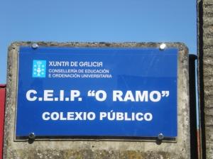Rótulo do CEIP O Ramo, en Barallobre