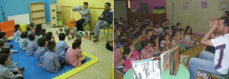Sesión de contos e música no Ceip Centieiras de Fene e no colexio Divina Pastora de Monforte