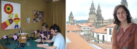 Programa radiofónico en Radiofusión Ferrolterra, coa participación de Paula Carballeira na emisión