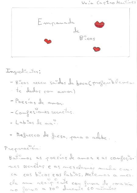 Empanada de bicos elaborada por Uxía Castro, do CEIP da Xunqueira