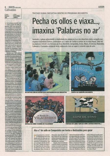 Reportaxe de Romina Bal publicado en Galicia Hoxe