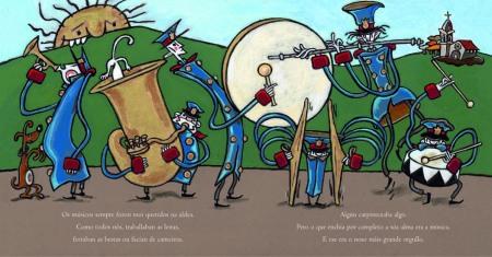 """Ilustración de """"A banda de Vilacendoi"""", do autor Xulio Gayoso"""
