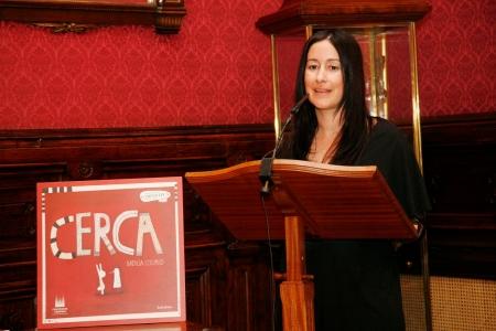 Natalia Colombo, na súa intervención con motivo da entrega do I Premio Compostela