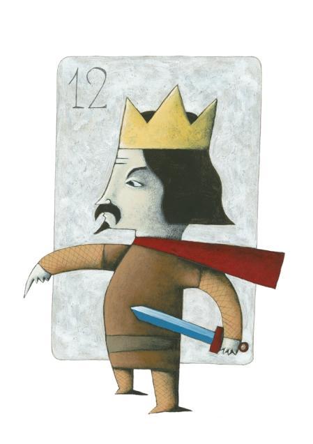Afiado I. Ilustración Batalla de Naipes de Josep Rodes