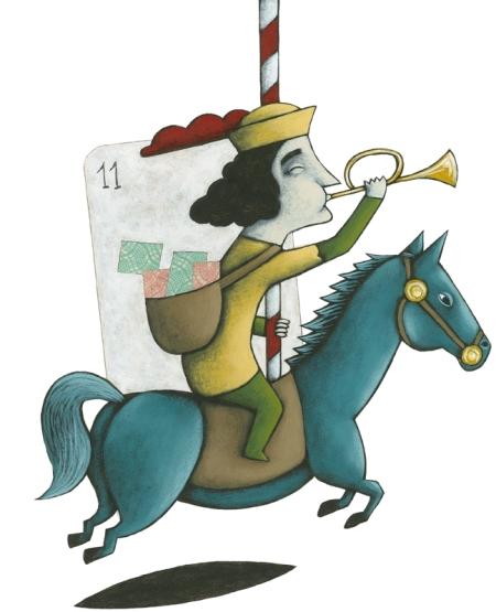 Ilustración de Batalla de Naipes_J. Rodes_Kalandraka Editora